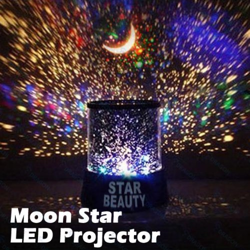 Star Master Colorful Starry Moon Beauty Night Cosmos Projector Bed Side Lamp