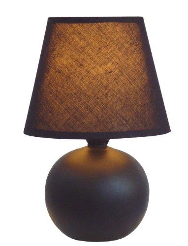 Simple Designs LT2008-BLK Ceramic Globe Table Lamp, Black