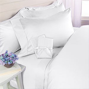 1500 Thread Count Egyptian Quality 3pc Duvet Cover Set, Solid, King/California King, White