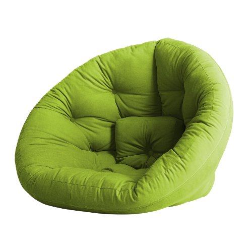 Fresh Futon Nest Convertible Futon Chair/Bed, Lime Mattress