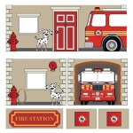 Dorel Home Products Curtain Set for Junior Loft Bed, Fire Department