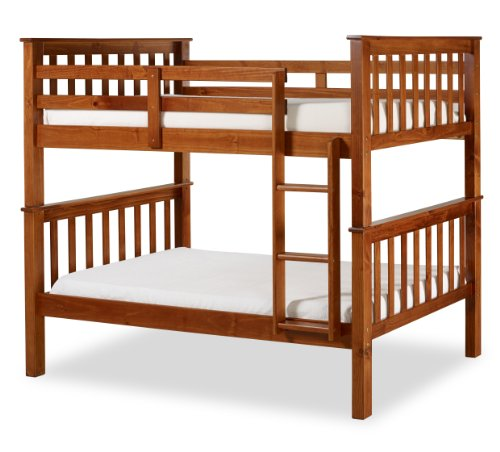 Santa Fe Mission Solid Wood Bunk Bed, Twin Over Twin, Chestnut