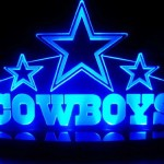 NFL Dallas Cowboys LED Desk Lamp Night Light Beer Bar Bedroom Gameroom Signs (Small 3″x12″x7 inch)