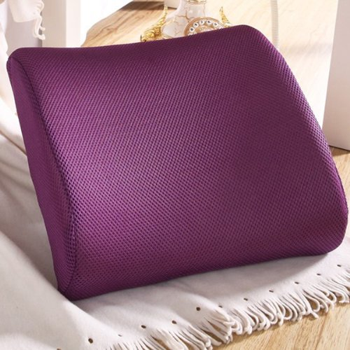 THG High Resilient Memory Foam Purple Seat Back Pain Support Cushion Pillow Pad Car Office Chair Lumbar Lower ache
