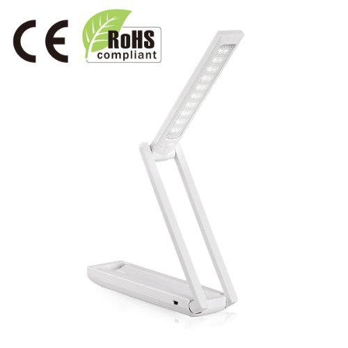 Lighting EVER Portable LED Desk Lamp, Travel Light, Reading Lamp, Bedroom Lamp
