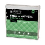 SleepGuardTM Premium Hypoallergenic 100% Waterproof Mattress Protector by Deneve® – Queen Size, White, 60″W x 80″L x 18″D – Guard Yourself Against Bed Bugs, Dust Mites, Liquids, Allergy Agents – Terry Cloth Top Combined with Protective Barrier Underneath Provides Ultimate Comfort, Absorbency, Protection and Breathability – Your Purchase Supports Charity – 15 Year Warranty! (Queen)