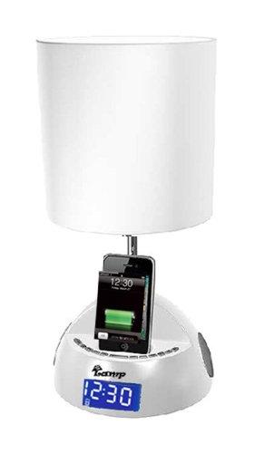 iBRIGHT LLC MyLamp iPod/iPhone Docking Station with FM Radio and Alarm Clock – White