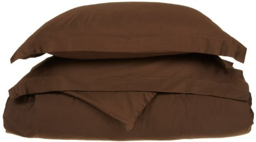 1500 Thread Count Egyptian Quality Duvet Cover Set, 3pc Luxury Soft, Full/ Queen-Brown