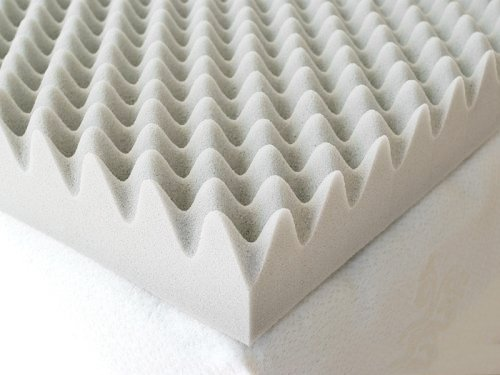 Milliard 2-Inch Egg Crate Ventilated Memory Foam Mattress Topper, Queen