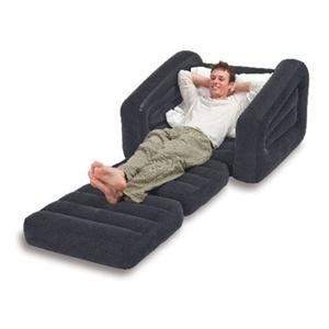 INTEX Inflatable Pull-Out Chair & Twin Bed Mattress Sleeper | 68565E