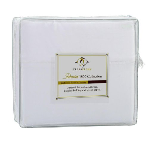 Clara Clark Premier 1800 Series 3pc Duvet Cover King Size, White