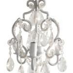 Tadpoles Three Bulb Chandelier in White Diamond