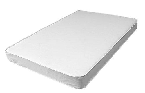 LA Baby 3″ Compact Crib Mattress, White