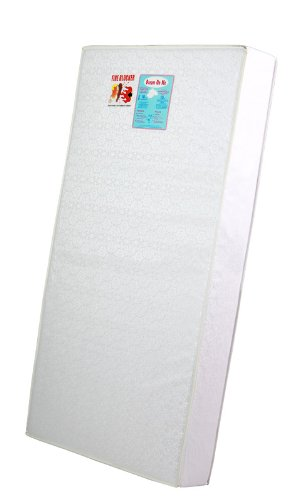 Dream On Me 6″ Full Size Firm Foam Crib and Toddler Bed Mattress, White