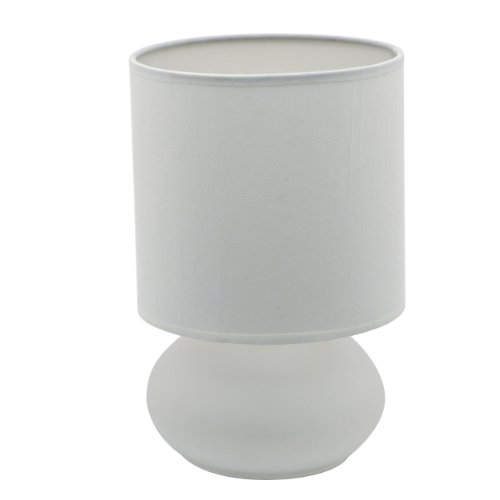 Bedroom Table Lamp with On/ Off Touch Sensor (White)
