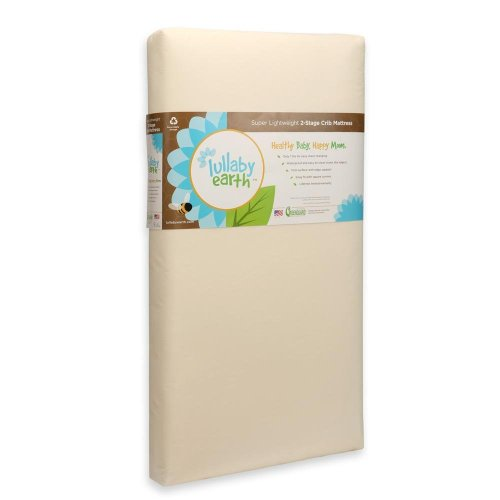 Lullaby Earth Super Lightweight Crib Mattress 2-stage
