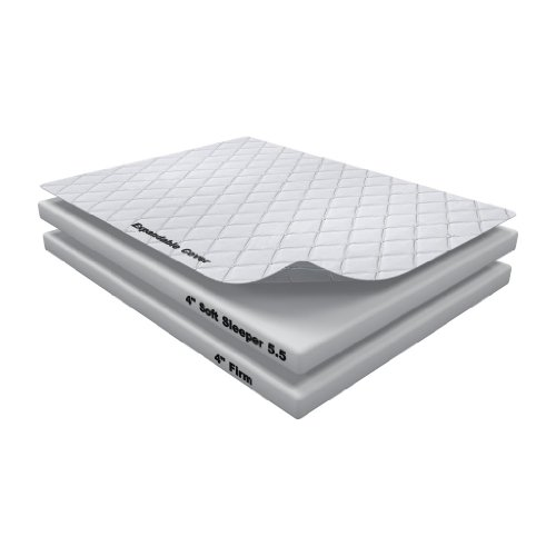 8 Inch Soft Sleeper 5.5 Full / Double RV/Truck Mattress Bed With 4 Inches of Visco Elastic Memory Foam Assembly Required USA Made