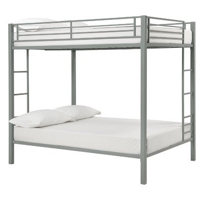 Dorel Home Products Full Over Full Bunk Bed, Silver