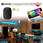 Premium 10pc 300 LED iOS Android Home Party Lighting Solution WiFi App Control Neon Accent Light Kit – Kitchen Bedroom Living Room Under Cabinet Furniture Lighting