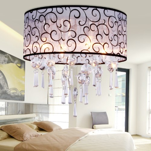 Vivreal® Modern Contemporary Vintage Retro Crystal Pendant Ceiling Lighting Light Chandelier Bedroom
