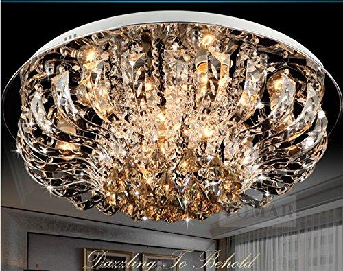 NEW Round Ceiling Light LED Crystal Light living room European-style bedroom modern minimalist restaurant lamp lighting 9038