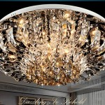 NEW Round Ceiling Light LED Crystal Light living room European-style bedroom modern minimalist restaurant lamp lighting 9038