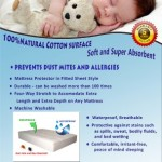 Waterproof Crib Mattress Pad – Soft Fitted Quilted Cover Pads for Baby – Best Protectors Liner Sheet Toppers Helps Infants From Bed Bugs, Allergies – Long Lasting Size Fits All Cribs Breathable and Absorbent – Extremely Healthy Choice for You Toddler