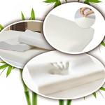 Memory Foam Pillow – Firm w/ an Ultra Soft Cover, Luxury-Style, Designed to Help You Sleep Better. Ergonomically Contoured for Proper Neck Support: Side & Back Sleepers. 40% Bamboo Fiber Cover- Naturally Ventilated for a Cooler Slumber. Standard Size