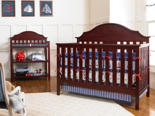 Serta Hanover Fixed-Side Convertible Crib, Classic Cherry