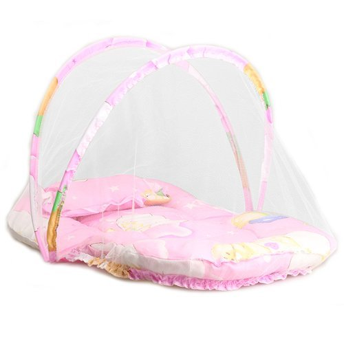 Crazycity Sleeping Mosquito Net Netting Crib Insect Cradle Bed Canopy Cushion Mattress Set for Baby Infant