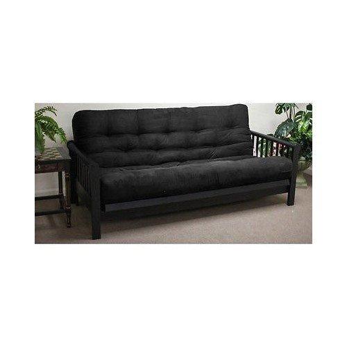 Sheek Black 5-inch Full-size Plush Futon Mattress Sofa Living Room Furniture Decor