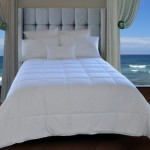 Natural Comfort White Down Alternative Comforter with Embossed Microfiber Cover, Light Weight Filled, Queen