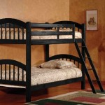 Black Finish Wood Arched Design Twin Size Convertible Bunk Bed