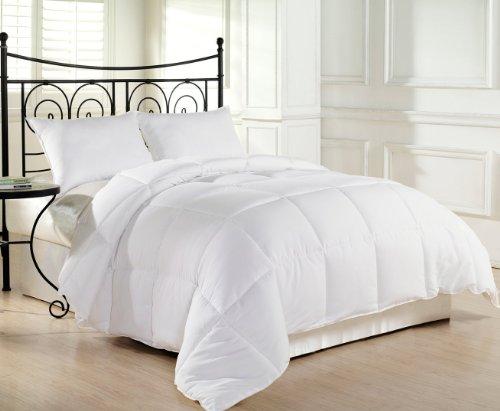 Alyssa HomeTM White Goose Down Alternative Comforter – Twin/Queen/King, White (Full/Queen)