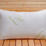 Five Star Hotel Comfort Bamboo Pillow Filled with Shredded Memory Foam with Removable Hypoallergenic Bamboo Cover Case – Luxurious Comfort – Shredded Memory Foam For Perfect Contour – Best Pillow for Side Sleeper – Helps with Neck and Back Pain – Instant Neck Pain Relief -Stop Tossing and Turning – Get the Sleep You Deserve – Lifetime Money Back Guarantee – Queen Size