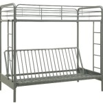 Home Life Twin over Full Futon Bunk Bed – Silver