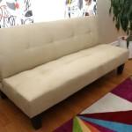 Home Life Beige Microfiber With Adjustable Back Klik Klak Sofa Futon Bed Sleeper Convertible High Quality