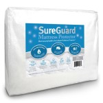 Full Size SureGuard Mattress Protector – 100% Waterproof – Hypoallergenic – Breathable Soft Cotton Terry Cover – Blocks Dust Mites, Allergens, Mildew & Mold – Superior Quality – 30 Day Return Guarantee – 10 Year Warranty