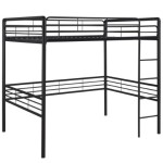 Dorel Home Products Full Loft Bed, Black