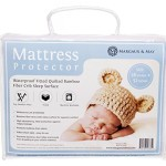 Bamboo Crib Mattress Protector -Waterproof Fitted Quilted Mattress Protector for Your Cot. High Absorbency and Stain Protection Baby Cover Made with Bamboo Fiber for Superior Comfort. Prevents Bacteria, Dust Mites and Mould From Breeding in Your Child's Mattress.