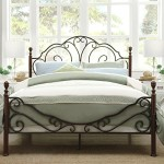 Metro Shop TRIBECCA HOME LeAnn Graceful Scroll Bronze Iron Queen-sized Bed