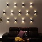 AGPtek® 3W LED Wall Lamp Hall Porch Walkway Light Living Room Light Bedroom Lamp – White