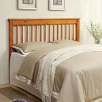 Berks Mission Style Oak Finish Full / Queen Size Solid Wood Headboard