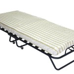 Home Source Industries, 228 Cot Bed, Folding Bed with 4″ Mattress, L 75″ W 31″ x H 14″