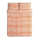 Ikea 602.512.03 Odestrad duvet cover and pillowcases, full/queen, orange