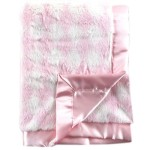Hudson Baby Plush Blanket with Satin Trim and Backing