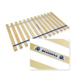 New Queen Size Custom Width Bed Slats with Seattle Seahawks Themed Colored Strapping and Team Logo Bumper Sticker! – Choose your needed size – Eliminates the need for a link spring or box spring!