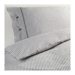 Ikea 001.891.53 Nyponros duvet cover and pillowcases, full/queen, white/blue