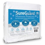 Crib Size SureGuard Mattress Protector – 100% Waterproof – Hypoallergenic – Breathable Soft Cotton Terry Cover – Blocks Dust Mites, Allergens, Mildew & Mold – Superior Quality – 30 Day Return Guarantee – 10 Year Warranty