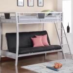 Metal Twin Over Futon Bunk Bed – coaster 460024